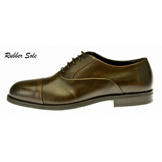 Ginetto - Dark brown Leather - Rubber Sole