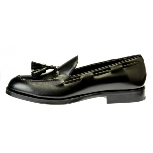 Tito - Black brushed leather
