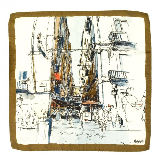 Silk Pocket Square Naples