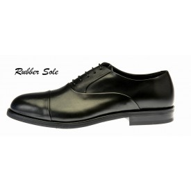 Ginetto - Black Leather - Rubber Sole