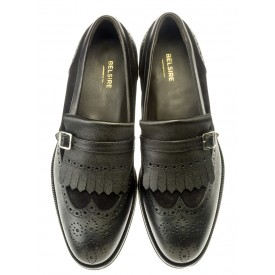 Folco - Black grained leather