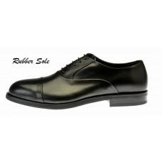 Ginetto - Black Leather - Rubber Sole
